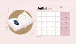 Téléchargez le fond d'écran et calendrier pour Juillet 2020 : radiate positivity - Goodie Mood