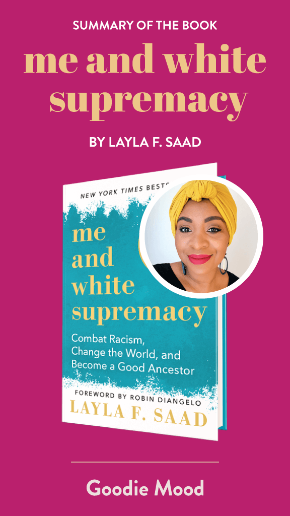 "Summary of the book ""Me and white supremacy"" by Layla F. Saad - infographic"