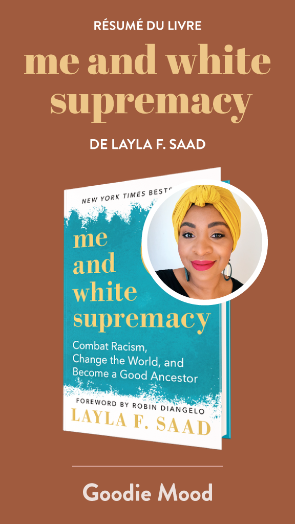 "Résumé du livre de Layla F. Saad ""Me and white supremacy"" - anti racisme white privilege infographics goodie mood"