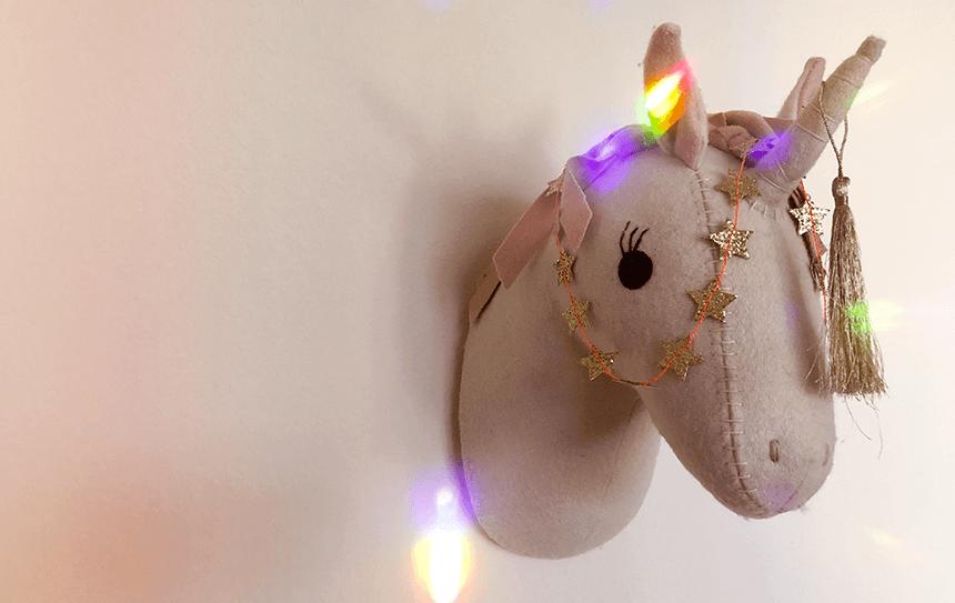 licorne en feutrine - Target