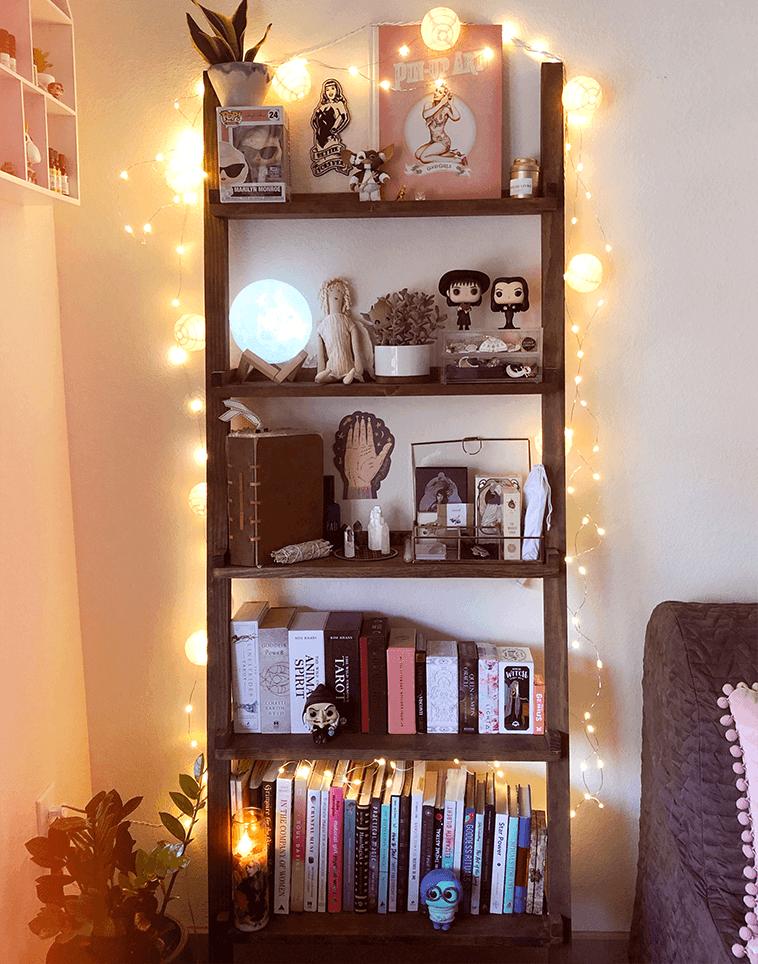 Ma bibliothèque : tarots, figurines, cristaux et trésors