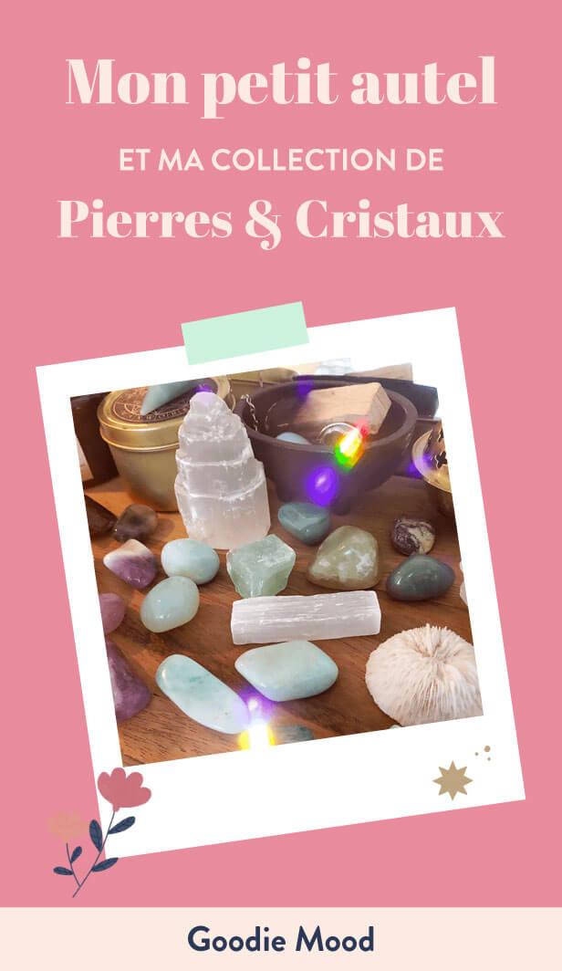 Présentation de mon autel, coin méditation, ma collection de pierres et cristaux
