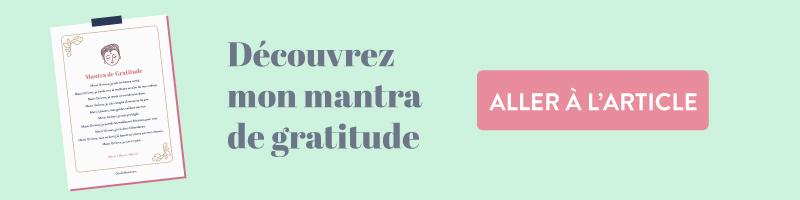 Articel Goodie Mood, mantra de gratitude à reciter chaque matin