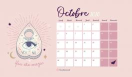 Telechargez gratuitement votre calendrier et fond d'écran magique pour octobre 2020 ! #goodiemood
