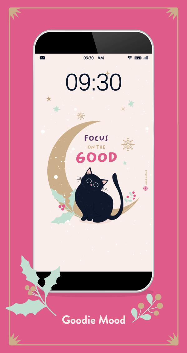 Wallpaper et calendrier gratuits pour decembre 2020 sur Goodie Mood, #chat #wallpaper #decembre