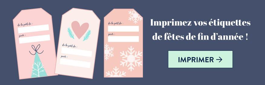 Imprimez les étiquettes de Noël gratuites pour enjoliver vos paquets cadeaux - goodie mood