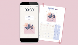 Wallpaper et calendrier Goodie Mood pour janvier 2021 sur Patreon