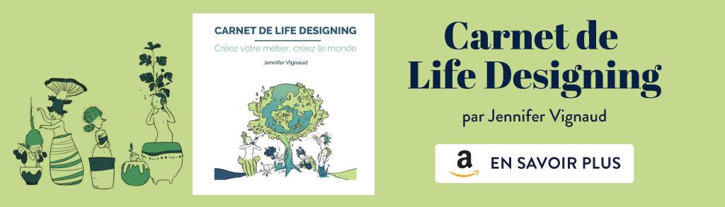 carnet de life designing par Jennifer Vignaud