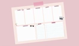 Printable - weekly planner rose poudre sur Goodie Mood
