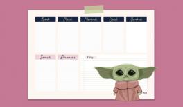 weekly planner baby Yoda à imprimer - goodie mood sur patreon