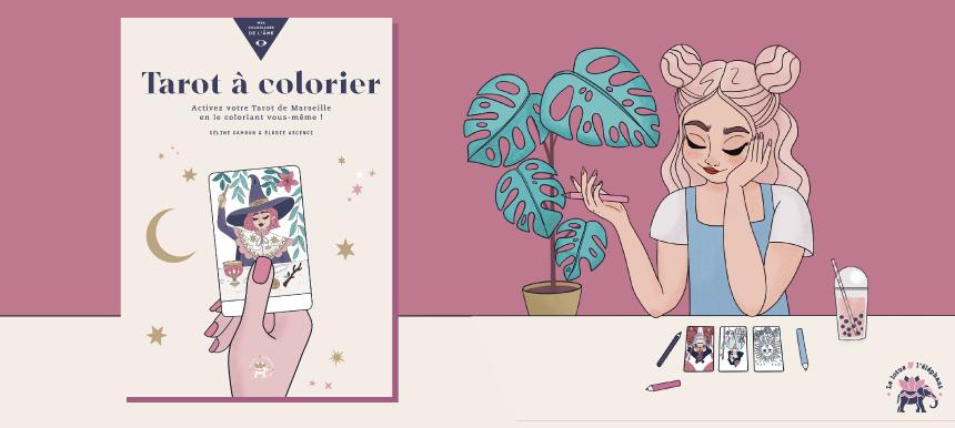 livre Mon tarot à colorier - illustrations : Goodie Mood