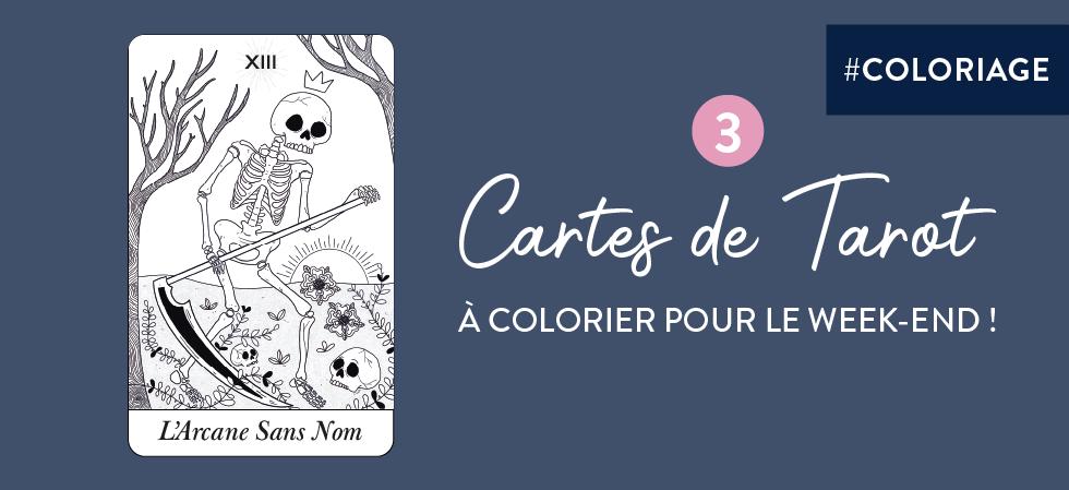 Tarot à colorier par Goodie Mood - 3 cartes de coloriage à imprimer