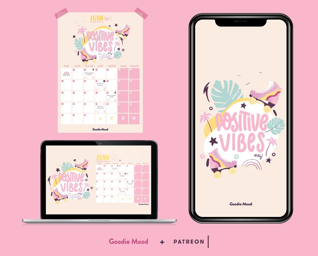 wallpaper et calendrier goodie mood a telecharger et imprimer pour juin 2021