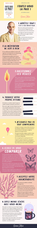 """résumé du livre """"Foutez-vous la paix"""" de Fabrice Midal sur la meditation - Goodie Mood"""